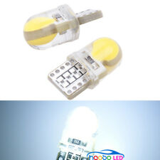 2pcs White silicone shell T10 Wedge COB LED Light Lamp Bulbs W5W 192 168 194