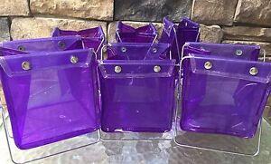 "Multi use Purple with Metal Basket foldable - 6"" size - Lot of 10 per set"