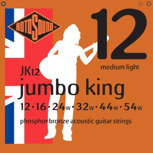 Rotosound Acoustic Guitar Strings - Jumbo King Phosphor Bronze - Gauge: 12-54