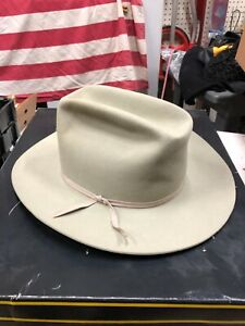 VINTAGE RESISTOL SILVER BELLY X DOUBLE X HAT