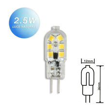 LAMPADINA 12 LED SMD G4 2,5 WATT 12V 140 LUMEN LUCE NATURALE 4000 K FARETTO 05N
