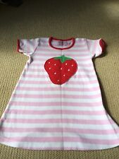 Gorgeous Toby Tiger girls organic cotton strawberry design dress age 1-2 years