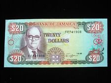 JAMAICA $20 DOLLARS 1989 SHARP 08# Currency Bank Money Banknote