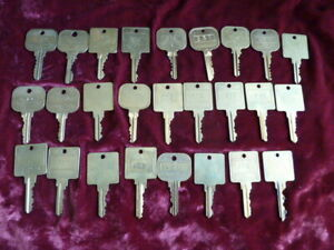 26 Vintage Hotel / Motel Numbered Keys Brass