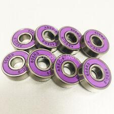 8pcs Skate Boards Scooters Longboards Skateboard Abec 9 608Rs Bearings Purple