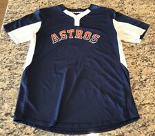 Houston Astros Majestic BLUE & RED BUTTON-UP COOL BASE SHIRT Size L