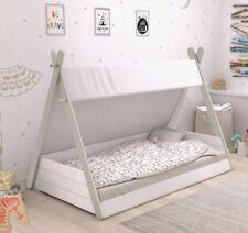 Cama infantil diseño tienda india unisex cama tipi niños de cuento 90x200 cm