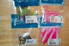 4 bags assortment jawbone tackle jigheads slab tube popsicle fat curltail grubs