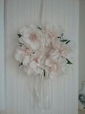 flower wreath hanging silk flower and pearl garland dream catcher