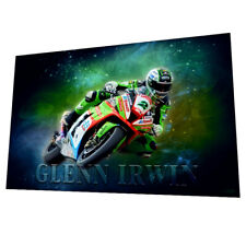 Glenn Irwin - Irish Road Racing wall art poster - Size A2