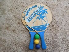New ListingBeachball Paddle Game with 3 Balls - Wood Paddles