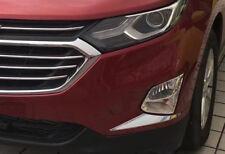 Chrome Front Fog Light Lamp Eyelids Cover Trim For Chevrolet Equinox 2018-2020