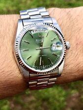 Bulova Vintage 1981 Super Seville Day Date Green Watch (Rolex Datejust Glass)