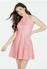 JustFab Eyelet Fit and Flare Dress Pink Size XXL rrp £56.95  SA079 CC 04