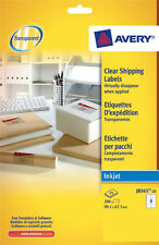 Avery J8565-25 Inkjet Clear Labels 99.1 X 67.7mm 8 Labels/Sheet (25 Sheets/Pack)