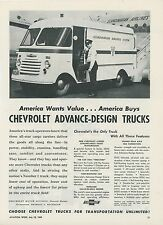 1949 Chevrolet Commercial Trucks Ad Scandinavian Airlines Delivery Panel SAS