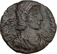 CONSTANTIUS II Constantine the Great son w globe Ancient Roman Coin  i33019