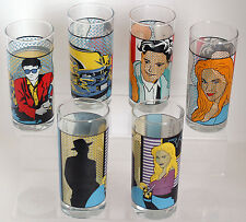 Longdrink Gläser 6 Stk. Edition Pop Art Kunst Rastal Glas Saft Wasser Sehr RAR