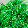 SS 2m (6.5 Ft) Christmas Tinsel Tree Decorations Garland (green)