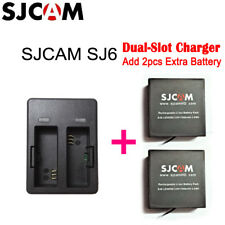 Original SJCAM SJ6 Legend Dual Charger + 2pcs 1000mAh Rechargeable Battery