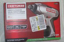 "CRAFTSMAN NEXTEC 12V COMPACT 1/4"" LITHIUM-ION CORDLESS IMPACT DRIVER 917428"