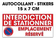 Autocollant stickers interdiction de stationner