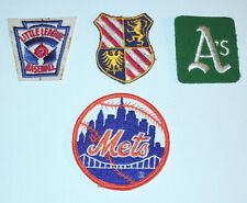 Vintage Patch Lot Of 4 Patches New York Mets Oakland A's Little League Misc.