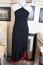 Blondie& Me black with red chiffon formal long evening dress 7