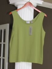 Chico's Climbing Ivy Green Microfiber Tank Top Shell Cami Size 2 (12-14) NWT $38