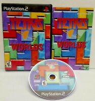 Tetris Worlds - PS2 Playstation 2 COMPLETE Game 1 Owner Near Mint Disc