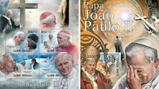 Pope John Paul II Religion Vatican Mother Teresa Guinea-Bissau MNH stamp set