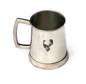 Fallow Deer Head Tankard 1 Pint Metal Drinking Mug Present Stalking Hunter 124
