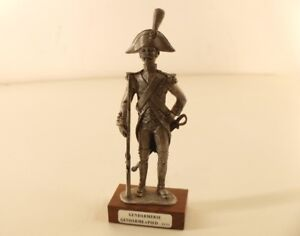 The Pewter Of Sagittarius Policeman To Foot 1810 Soldier Height No Base 12,5 CM