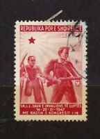 Albania stamps #408a, used, 1947, SCV $11.00
