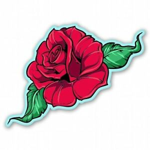 Rose Red Car Vinyl Sticker - SELECT SIZE