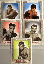 AJMAN 1969 382-86 A Sportler Boxen Boxing Sports Schmeling Benvenuti Cardan MNH
