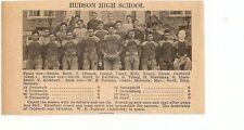 Hudson & Hicksville Ohio 1929 Football High School Team Picture