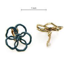 Pilgrim Enamel Clip - On Costume Earrings