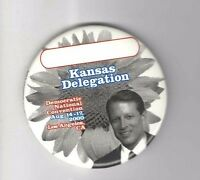 2000 Al GORE pin KANSAS Delegation DEMOCRATIC CONVENTION August 14 - 17 L.A.