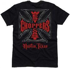 West Coast Choppers - WCC Cross T-Shirt - Schwarz