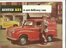 AUSTIN A35 6cwt DELIVERY VAN  SALES BROCHURE EARLY 60's