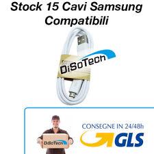 Stock 15 pezzi Cavo di ricarica Samsung COMPATIBILE - SPEDIZIONE 24/48h GLS