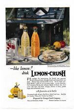 1921 Lemon Crush Carbonated Drink Real Fruit Flavor Picnic Family Fun Jeff Grant