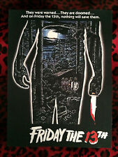 "Friday the 13th Back Patch! 11"" X 14.5"" Horror Punk Rockabilly Psychobilly Metal"