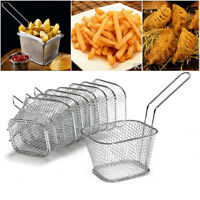 Stainless Steel French Fries Basket Fry Basket Strainer Kitchen Cooking Tool