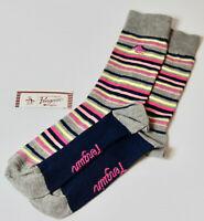 ORIGINAL PENGUIN Mens Navy Pink Striped  Socks /> One Size UK 7-11 EU 41-46