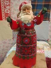Jim Shore Platinum 15Th Anniversary Musical Santa-Year After Year 4059002