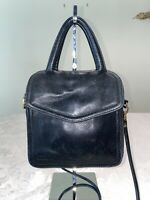 FOSSIL Black Leather Wallet Pocket Travel Small Crossbody Bag with Handles Rare