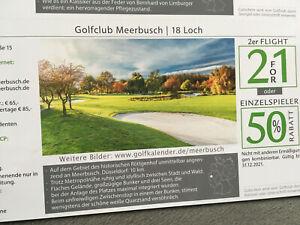 GOLF Gutschein Golfclub Meerbusch green fee Ermäßigung 2 für 1 oder 50% einzel