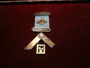 1962 - 63 Camden lodge 704 masonic silver jewel medal . Worshipful master .